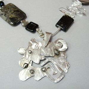 Abstract One Of A Kind Pendant Stainless Steel